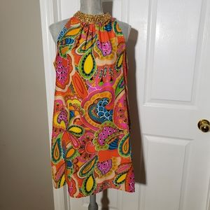 MIGUELINA silk paisley print dress